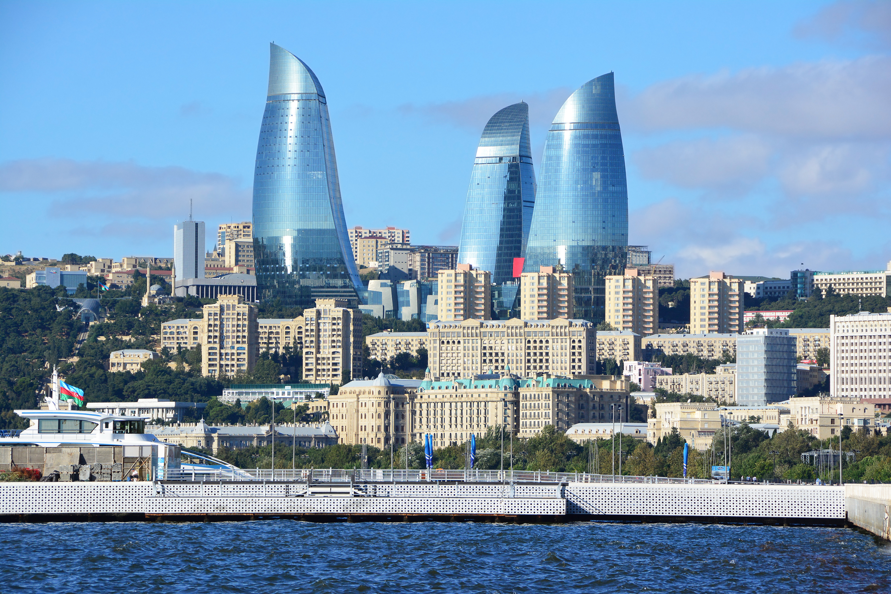 Find Hotels Near Fairmont Baku Flame Towers Baku Azerbaijan Hotels Downtown Hotels In Baku Hotel Search By Hotel Travel Index Business Travel News